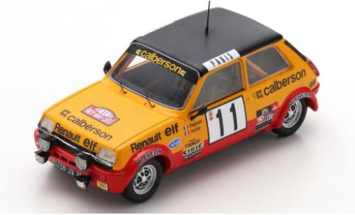 Renault 5 1/43 Spark Alpine No.11 Calberson Rally Monte Carlo 1979 J.Ragnotti/J-M.Andrie diecast model cars