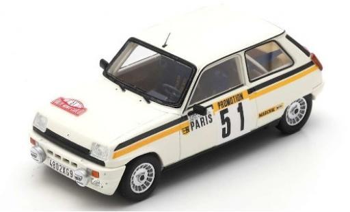 Renault 5 1/43 Spark Alpine Turbo No.1 Rallye Monte Carlo 1984 F.Chauche/C.Teyssier diecast model cars