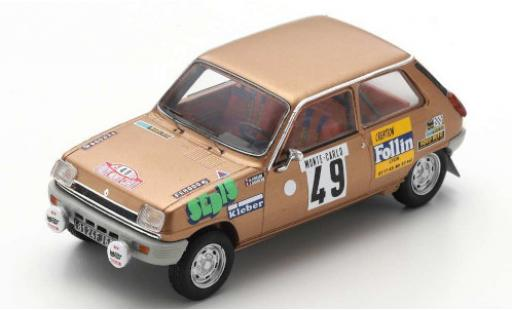 Renault 5 1/43 Spark LS No.49 Rally Monte Carlo 197 A.Follin/P.Bertrand miniature