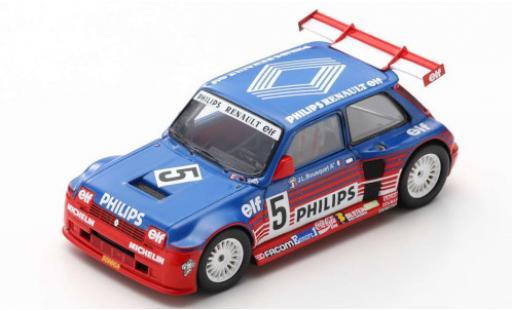 Renault 5 1/43 Spark Maxi Turbo Superproduction No. Philips 1987 J-L.Bousquet miniature