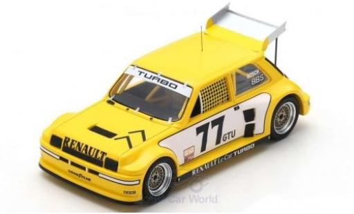 Renault 5 1/43 Spark Turbo No.77 Racing IMSA GTU Road Atlanta 1981 P.Jacquemart miniature