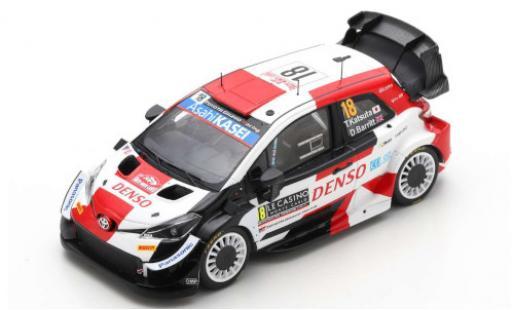 Toyota Yaris 1/43 Spark WRC No.18 Gazoo Racing Rallye WM Rallye Monte Carlo 2021 T.Katsuta/D.Barritt diecast model cars