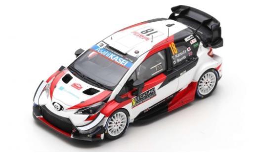 Toyota Yaris 1/43 Spark WRC No.18 Gazoo Racing WRT Microsoft Rallye WM Rally Monte Carlo 2020 T.Katsuta/D.Barritt miniature