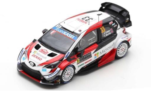 Toyota Yaris 1/43 Spark WRC No.33 Gazoo Racing WRT Microsoft Rallye WM Rally Monte Carlo 2020 E.Evans/S.Martin miniature