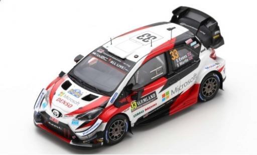 Toyota Yaris 1/43 Spark WRC No.33 Gazoo Racing WRT Microsoft WRC Rally Schweden 2020 E.Evans/S.Martin miniature