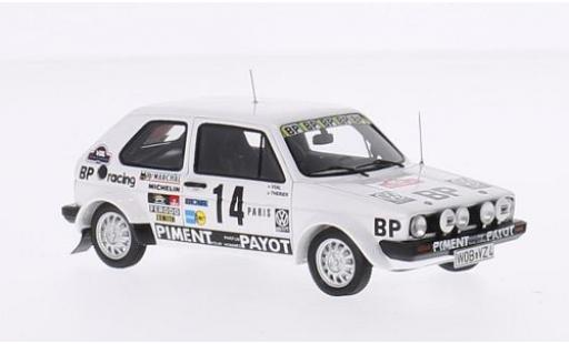 Volkswagen Golf 1/43 Spark GTI I No.14 BP Racing Rallye Monte-Carlo 1980 J-L.Therier/M.Vial diecast model cars