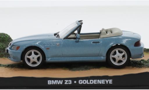 Bmw Z3 1/43 SpecialC 007 Roadster metallise bleue James Bond 007 1995 GoldenEye sans figurines miniature