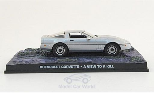 Chevrolet Corvette 1/43 SpecialC 007 grey James Bond 007 1987 Im Angesicht des Todes ohne Vitrine diecast model cars