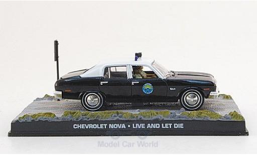 Chevrolet Nova 1/43 SpecialC 007 black/white James Bond 007 1973 Police Leben und sterben lassen ohne Vitrine diecast model cars