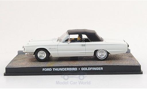 Ford Thunderbird 1/43 SpecialC 007 m. Figuren blanche James Bond 007 1964 Goldfinger ohne Vitrine miniature