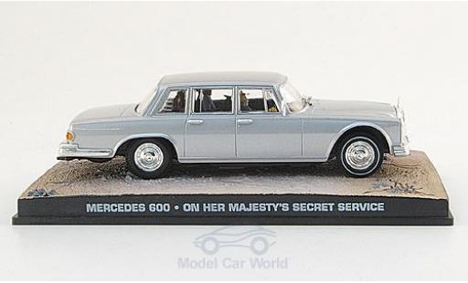Mercedes 600 1/43 SpecialC 007 grise James Bond 007 1969 Im Geheimdienst Ihrer Majestät ohne Vitrine miniature
