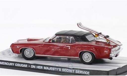 Mercury Cougar 1/43 SpecialC 007 Convertible rouge James Bond 007 Im Geheimdienst Ihrer Majestät ohne Vitrine miniature