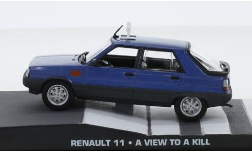 Renault 11 1/43 SpecialC 007 metallise bleue James Bond 007 A View To A Kill ohne Vitrine miniature