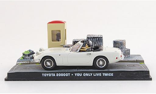 Toyota 2000 GT 1/43 SpecialC 007 Cabriolet blanche James Bond 007 1967 Man lebt nur zweimal ohne Vitrine miniature