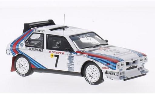 Lancia Delta 1/43 SpecialC 100 S4 No.7 Martini Rallye WM Rallye Monte Carlo 1986 H.Toivonen/S.Cresto sans Vitrine miniature