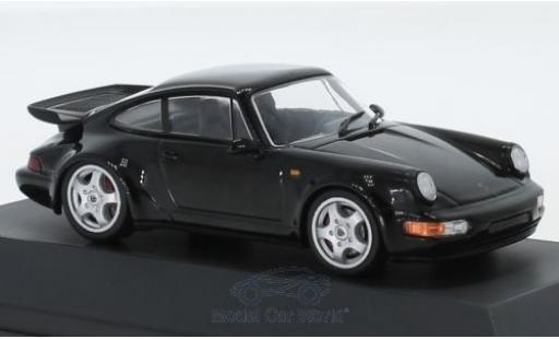 Porsche 964 Turbo 1/43 SpecialC 111 911  noire 1990 911 Collection miniature