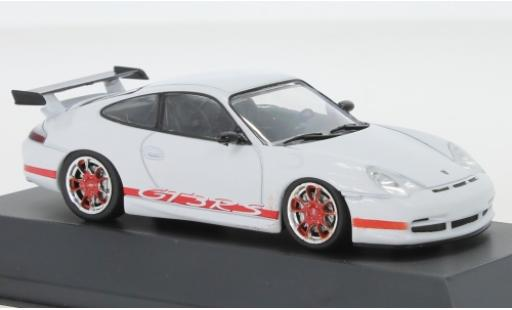 Porsche 996 GT3 RS 1/43 SpecialC 111 911  blanche/rouge 2003 911 Collection miniature