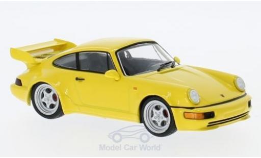 Porsche 964 SC 1/43 SpecialC 111  3.8 jaune 1992 Collection miniature