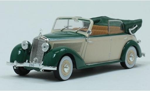 Mercedes 230 1/43 SpecialC 115 Cabriolet D grün/beige 1939 ohne Vitrine modellautos