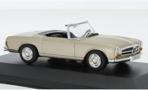 Mercedes 230 1/43 SpecialC 115 SL metallise beige 1963 ohne Vitrine modellautos