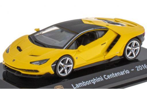 Lamborghini Centenario 1/43 SpecialC 121 jaune/matt-noire 2016 miniature