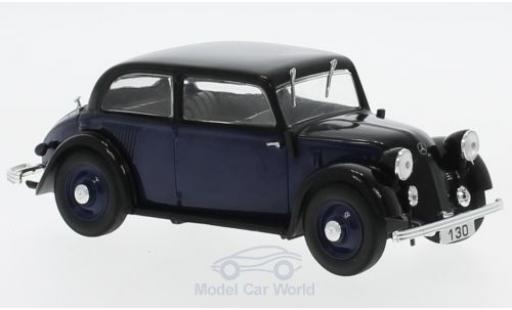 Mercedes 130 1/43 SpecialC 16 (W23) bleue/noire 1934 ohne Vitrine miniature