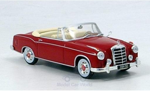 Mercedes 220 1/43 SpecialC 16 SE Cabriolet rouge 1958 ohne Vitrine miniature