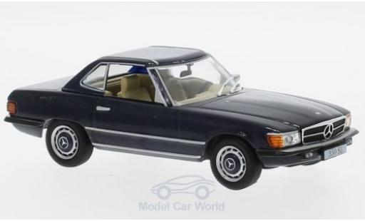 Mercedes 350 1/43 SpecialC 16 SL (R107) blue 1971 ohne Vitrine diecast model cars