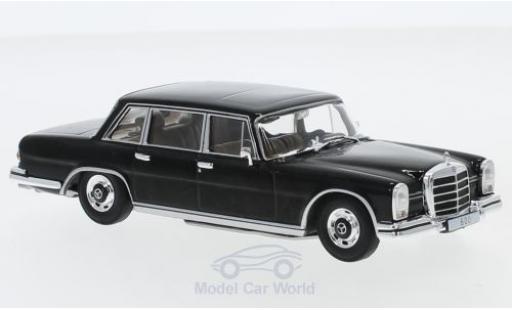 Mercedes 600 1/43 SpecialC 16 (W100) black 1964 ohne Vitrine diecast model cars