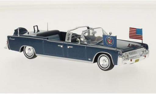 Lincoln Continental 1/43 SpecialC 56 Limousine SS-100-X metallise bleue J. F. Kennedy sans Vitrine miniature