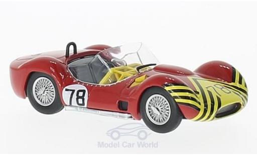 Maserati Tipo 1/43 SpecialC 89 61 RHD No.78 Nassau Trophy 1961 B.Schroeder ohne Vitrine miniature