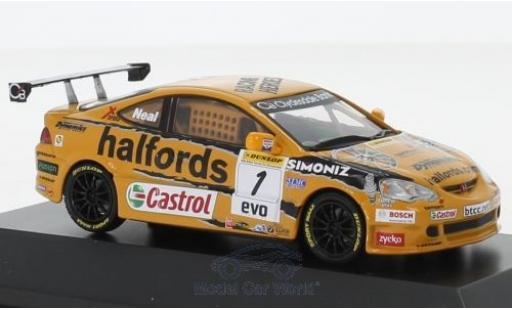 Honda Integra 1/43 SpecialC 92 Type-R RHD No.1 Team Halfords BTCC 2006 M.Neal miniature