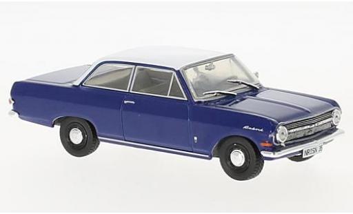 Opel Rekord 1/43 SpecialC 99 A bleue/blanche 1963 sans Vitrine miniature