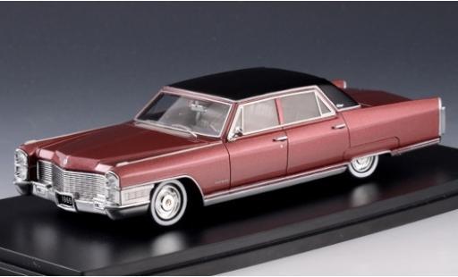 Cadillac Fleetwood 1/43 Stamp Models 60 Special metallise rouge/matt-noire 1965 miniature