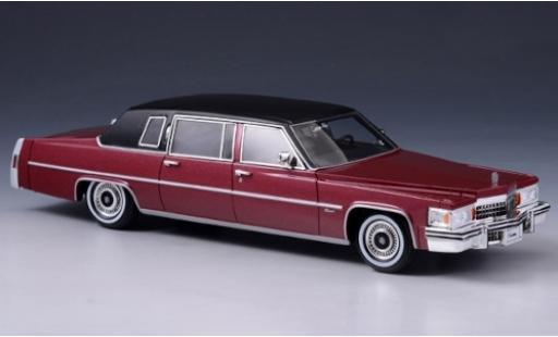 Cadillac Fleetwood 1/43 Stamp Models Limousine metallise rouge/matt-noire 1978 miniature