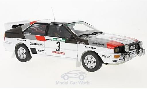 Audi Quattro 1/18 Sun Star A1 No.3 Rallye WM Rally Portugal 1983 H.Mikkola/A.Hertz ohne Vitrine miniature