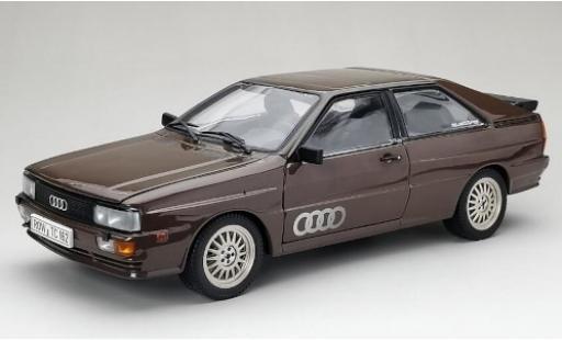 Audi Quattro 1/18 Sun Star quattro metallise marron 1981 coche miniatura