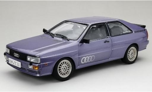 Audi Quattro 1/18 Sun Star quattro metallise lila 1983 coche miniatura