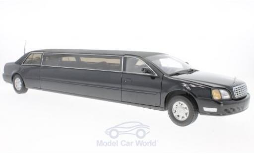Cadillac Deville 1/18 Sun Star DeVille Limousine noire 2004 ohne Vitrine miniature