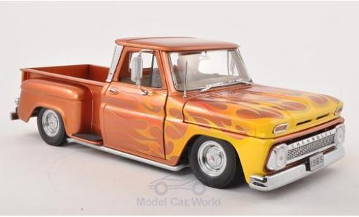Chevrolet C-10 1/18 Sun Star Stepside Pick Up Low Rider kupfer/Dekor 1965 miniature