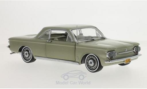 Chevrolet Corvair 1/18 Sun Star Coupe metallise verte 1963 miniature