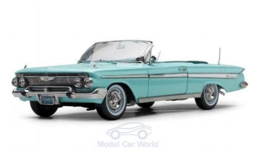 Chevrolet Impala 1/18 Sun Star Convertible turquoise 1961 miniature
