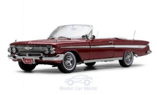 Chevrolet Impala 1/18 Sun Star Convertible metallise rouge 1961 miniature