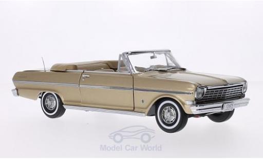 Chevrolet Nova 1963 1/18 Sun Star Convertible metallise marron Verdeck geöffnet miniature