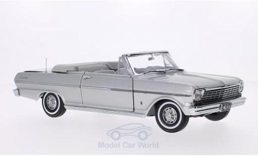 Chevrolet Nova 1963 1/18 Sun Star Convertible grise Verdeck geöffnet miniature