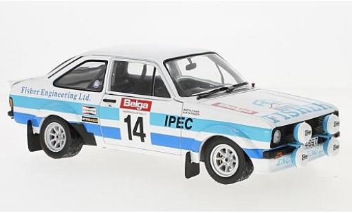 Ford Escort 1/18 Sun Star II RS1800 No.14 Rally Ypern 1981 B.Fisher/A.Frazer miniature