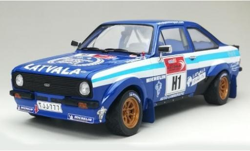 Ford Escort 1/18 Sun Star MkII RS1800 Latvala Motorpsort Historic Rally Sport Rallye Estonia 2012 J-M.Latvala/A.Sairanen diecast model cars