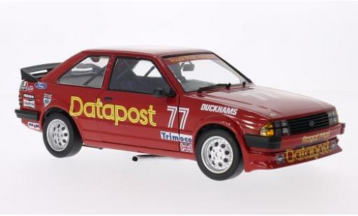 Ford Escort 1/18 Sun Star MKIII RS 1600i RHD No.77 Royal Mail Datapost British Saloon Car Championship 1984 R.Longman miniature