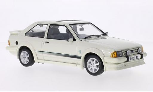 Ford Escort 1/18 Sun Star MkIII RS Turbo blanche RHD 1984 miniature
