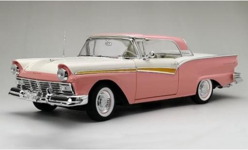 Ford Fairlane 1/18 Sun Star 500 Skyliner rose/blanche 1957 miniature